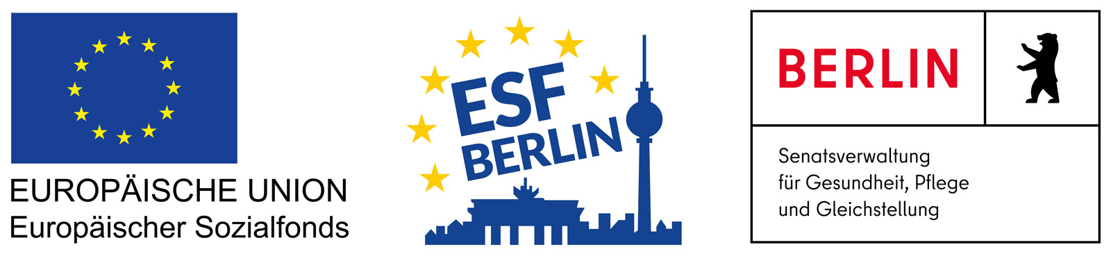 The Goldrausch Künstlerinnenprojekt is funded by the European Social Fund (ESF) and the Senate Department for Health, Long-Term Care and Gender Equality.